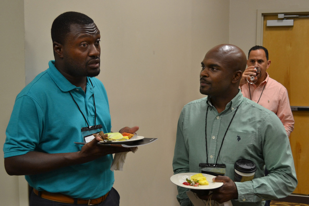 New Orleans pastor Ryan Rice (right) networked and learned valuable insights from other pastors at the 2017 Black Church Leadership and Family Conference underway at Ridgecrest, N.C. (Photo by Diana Chandler)