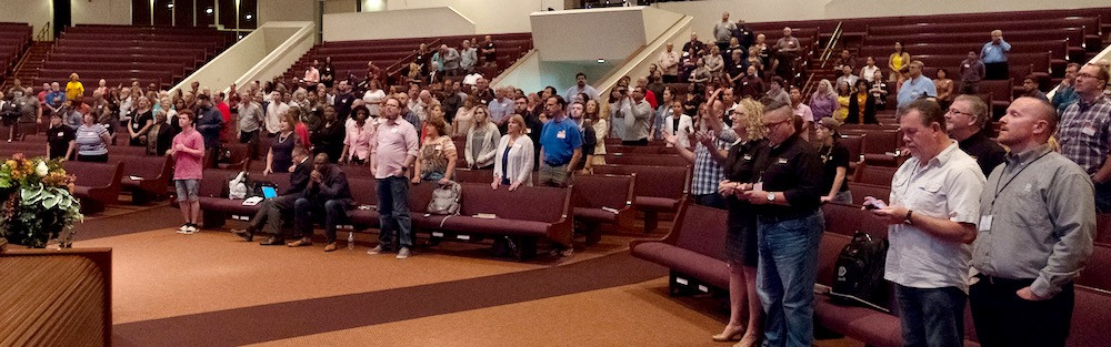 CEC attendees worshipping together. (Photo courtesy BSCM)