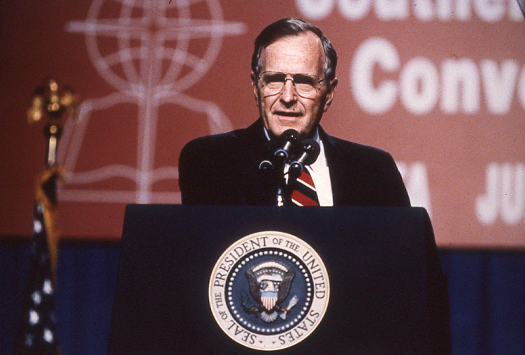 """For me, prayer has always been important, but quite personal, President George H.W. Bush told the SBC in a 1991 address. (SBHLA photo.)"