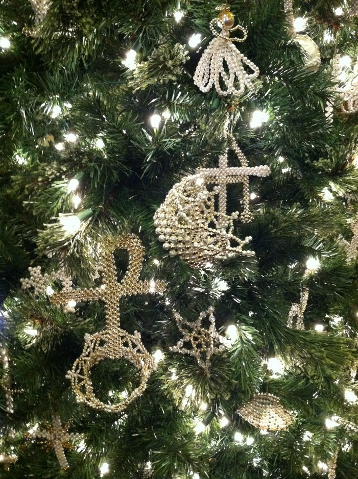 Traditional Chrismon ornaments represent the names and life of Christ, our savior. (Photo courtesy of FBC DeWitt)