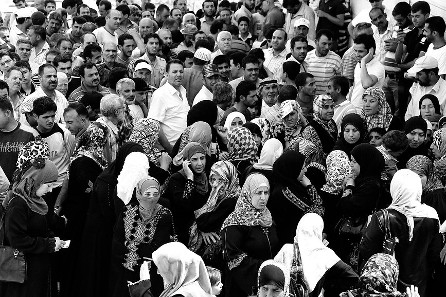 10 million Syrians have been displaced from their homes due to the Syrian civil war.