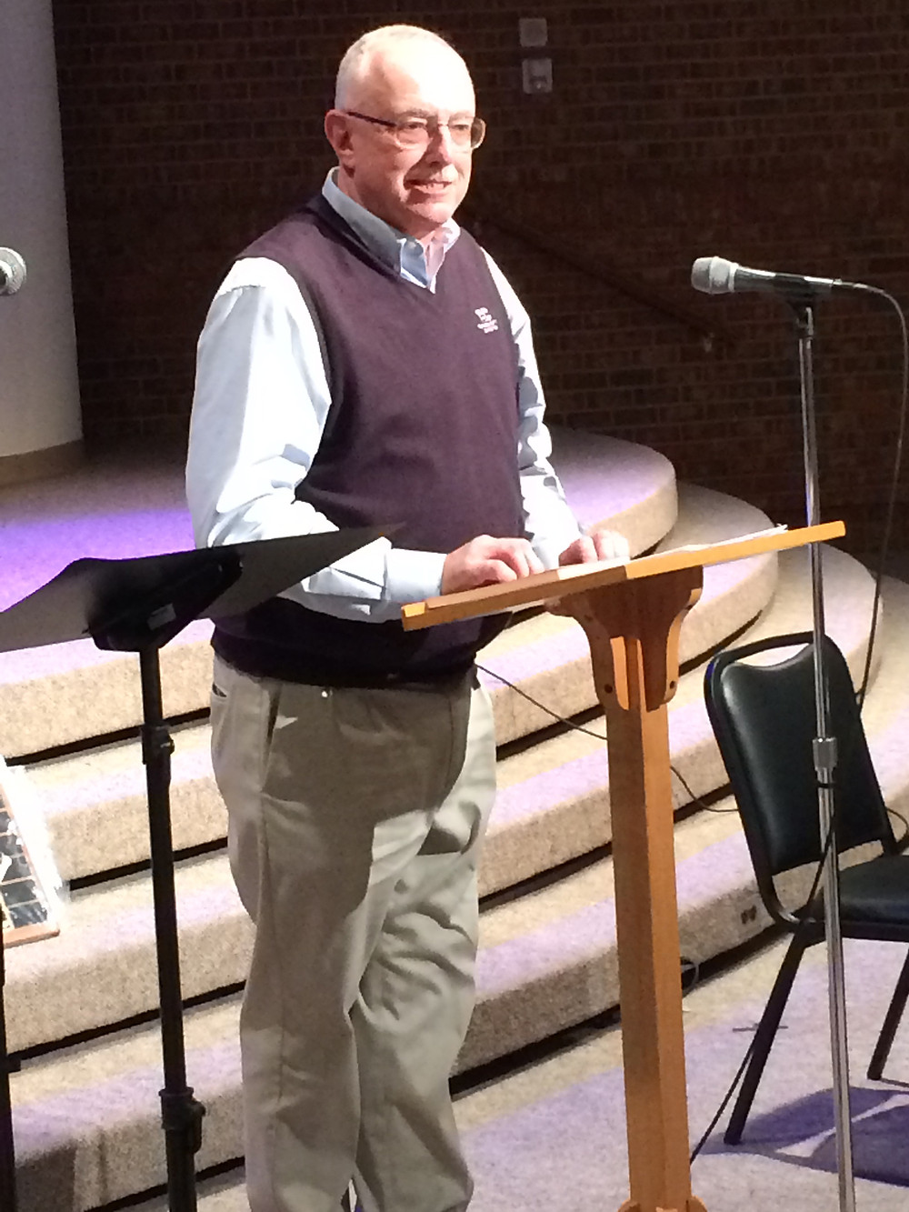 """News Baptist state papers """"report today is tomorrow's history,"""" Baptist and Reflector editor Lonnie Wilkey told the Tennessee Baptist Historical Society. Photo by David Roach"""