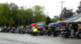 Though rain moves in it can't stop these bikers. (Photo courtesy Merriman Road Baptist Church)
