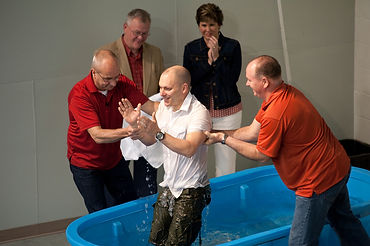 Baptism at The Gathering is always a joyous occasion. (Photo courtesy of The Gathering)