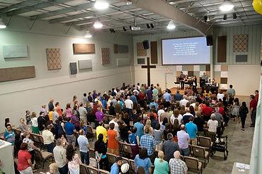 Sunday worship at The Gathering in Windsor, Ontario. (Photo courtesy of The Gathering)