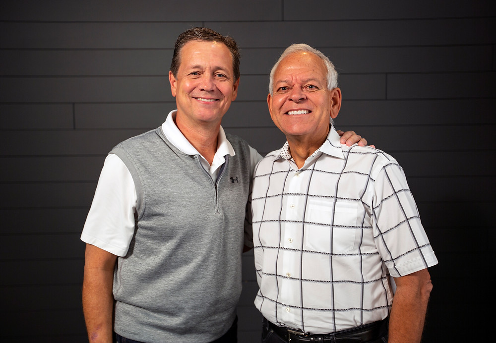 Johnny Hunt, right, longtime pastor of First Baptist Church Woodstock, Ga., and past president of the Southern Baptist Convention (SBC), will join the North American Mission Board (NAMB) as senior vice president of evangelism and leadership. Hunt and NAMB announced the news Sunday, Aug. 26. Here, Hunt is pictured with NAMB president Kevin Ezell. (NAMB Photo by Hayley Catt)