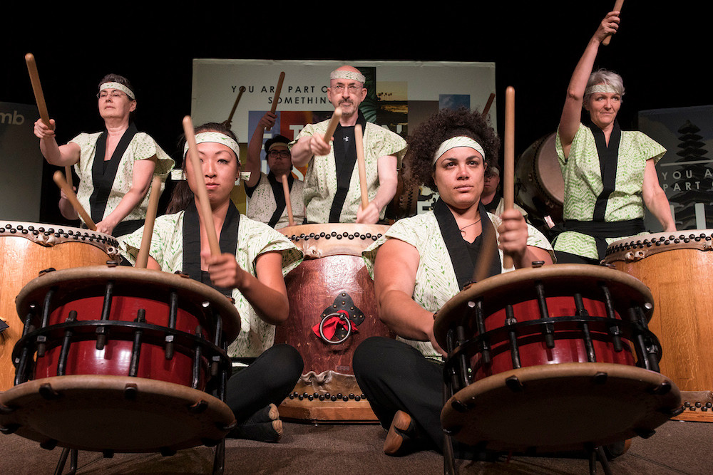 Fushicho Daiko, a professional taiko group, performs for 1,350 people at the International Mission Board (IMB) dinner June 12 at the Phoenix Convention Center. (Photo by Matt Jones)