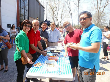 Celebrating life outdoors at The Gathering church. (Photo courtesy of The Gathering)