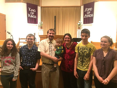 Pastor Terry Wilson with his family. (Photo courtesy Harmony Baptist Church)