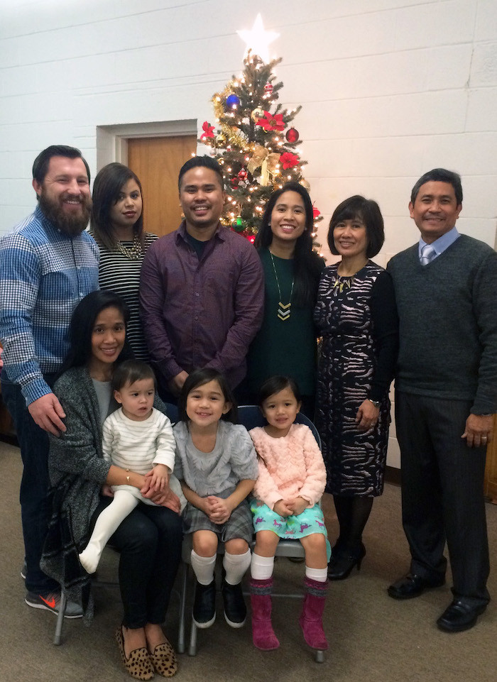 Nancy, Aaron, Chrissy, Ivan, Jourdane, their spouses and our grands. (Photo courtesy Aaron Tanap)