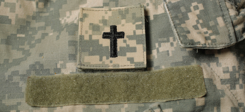 Every Chaplain in military service wears the distinctive cross on their uniform. (Photo courtesy of NAMB.net)