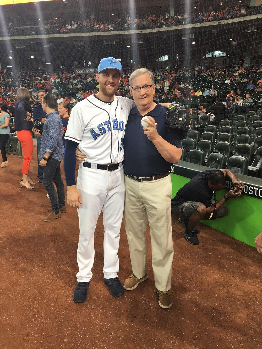 """Scott McHugh, father of Houston Astros pitcher Collin McHugh, says having his son in the World Series """"is still surreal to us."""" (Photo courtesy of Scott and Teresa McHugh)"""