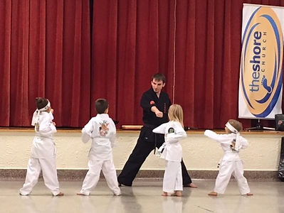 Martial arts classes at The Shore Church in St. Joseph.