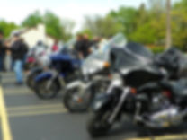 Christian bikers begin to arrive for the annual ride. (Photo courtesy Merriman Road Baptist Church)