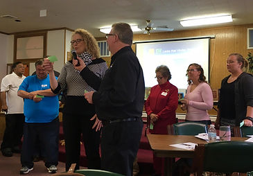 "Participants express ""locks"" released during prayer boot camp. (Photo by BSCM)"