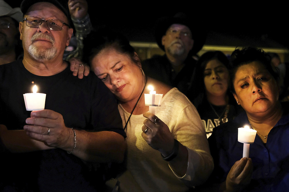 Sutherland Springs is tight-knit community of fewer than 1,000 people. On Sunday, its residents came together to confront their devastating loss. (Photo courtesy of KWOW.com)