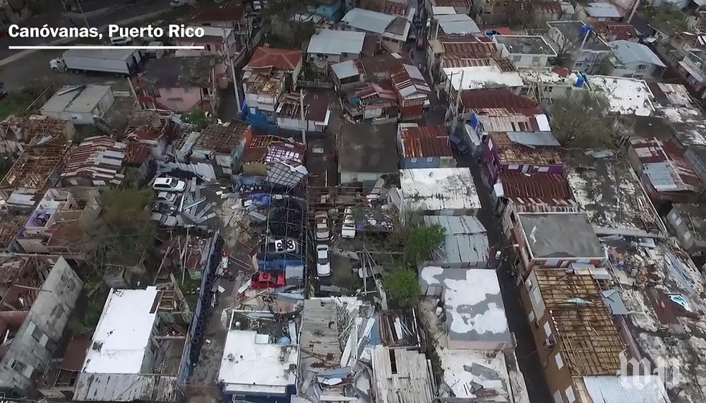 Puerto Rico has been overwhelmingly devastated and will take years to restore. (Screen capture from washingtonpost.com)