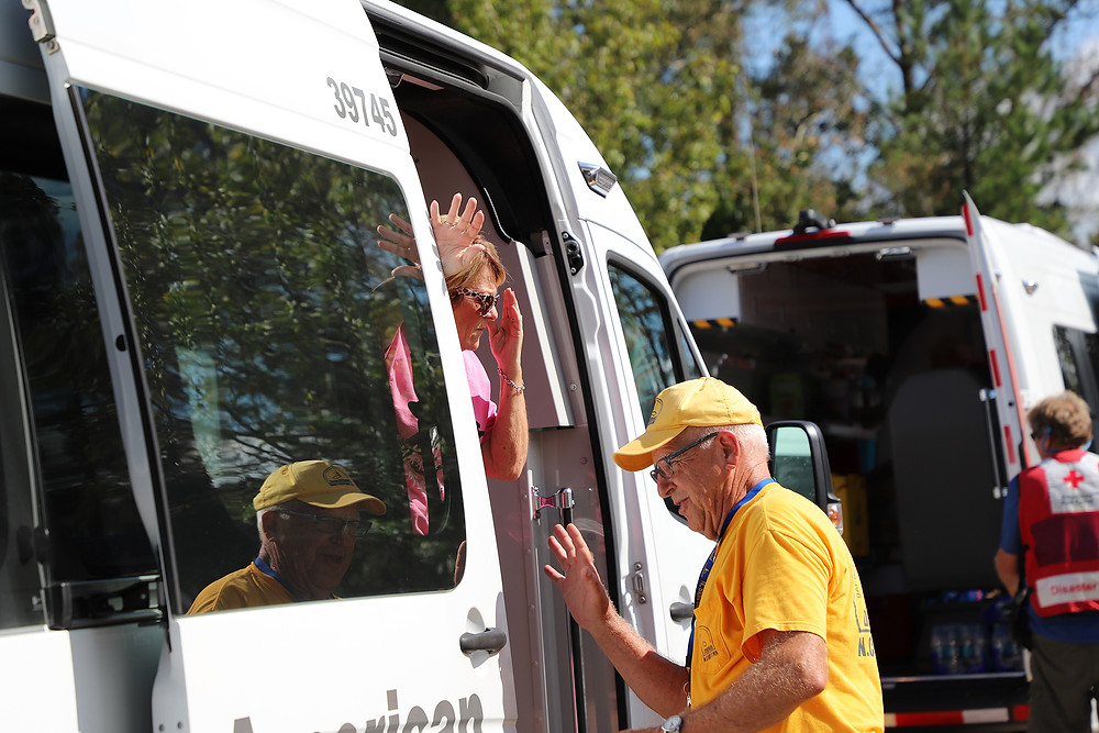 A North Carolina Southern Baptist Disaster Relief team prepared thousands of meals for residents of New Bern, N.C., that vans from the American Red Cross and The Salvation Army delivered to the community. (Photo by Adam Dukes)