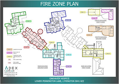 Fire Zone Plan for a hospital