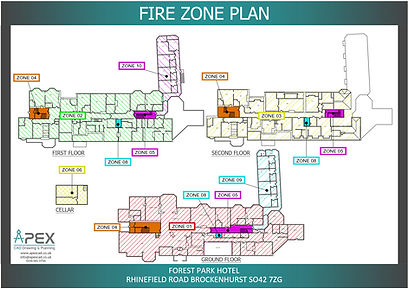 Fire Zone Plan for a Hotel