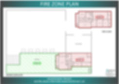 Fire zone plan for a warehouse