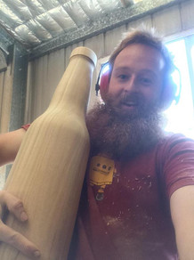 Giant beer bottles