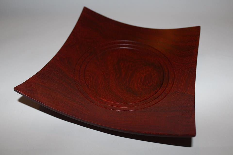 Square paduk bowl