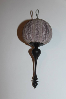Urchin and wenge finial