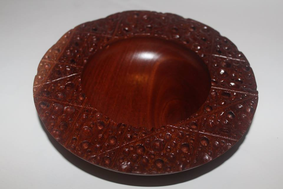 Red cedar erosion bowl