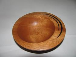 Mahogany off center bowl