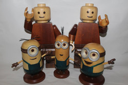 Lego men and Minions