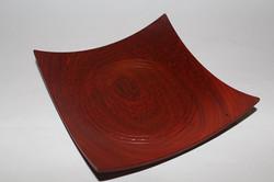 African paduk square bowl