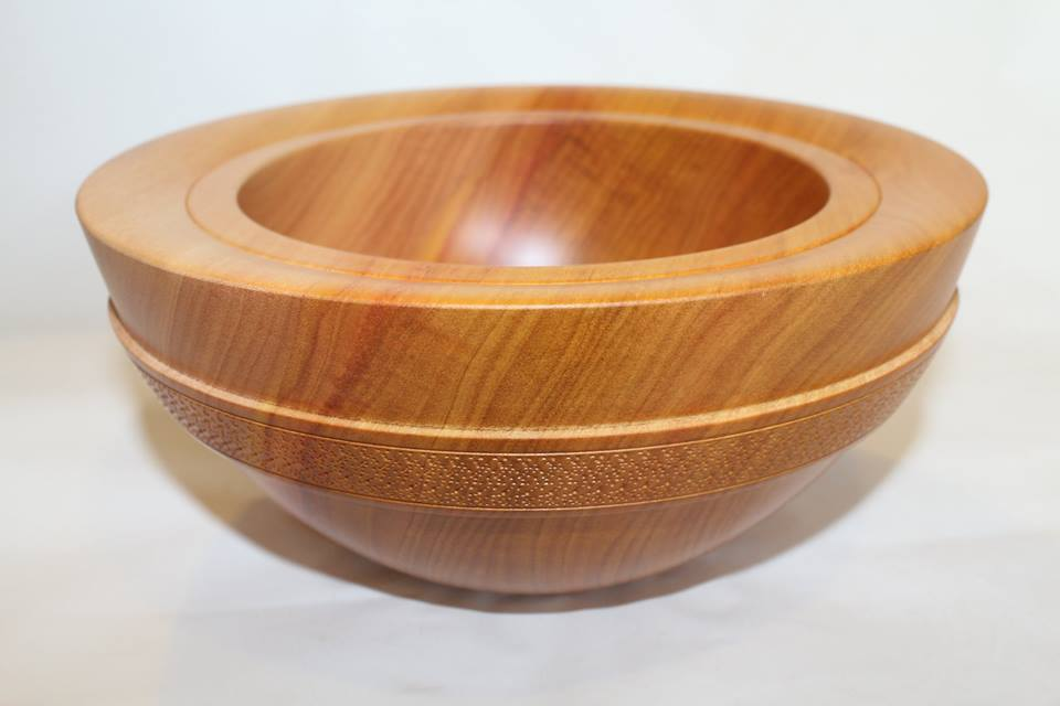 Yellow walnut bowl