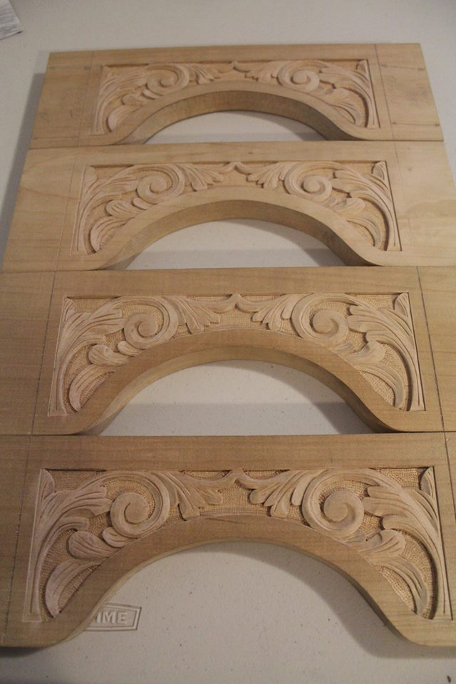carved rails