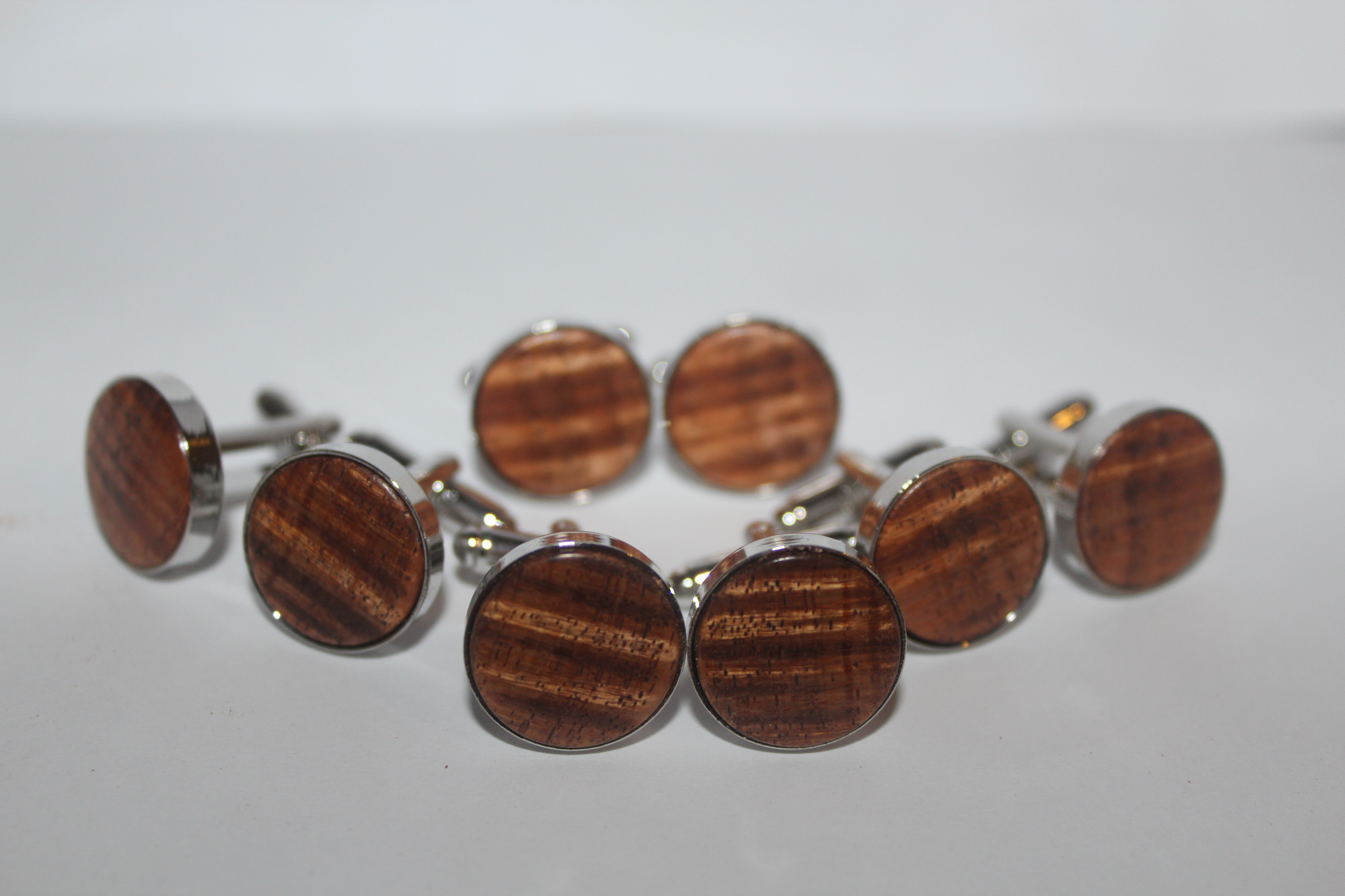 Figured blackwood cufflinks