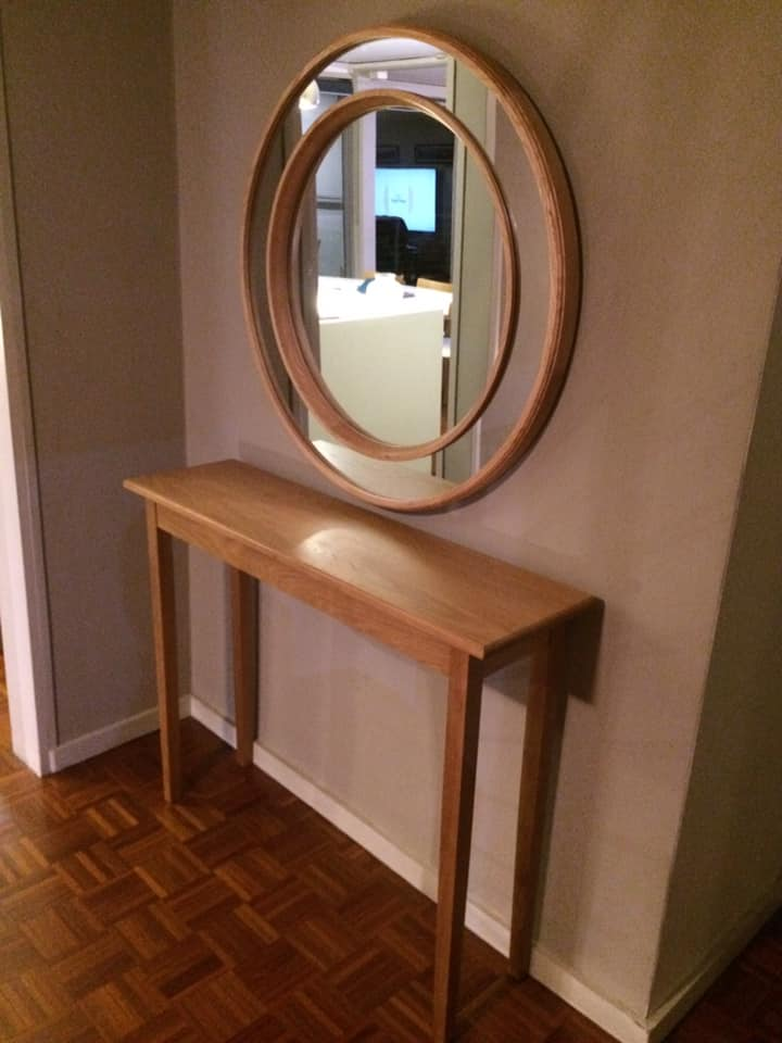 Oak table to match mirror