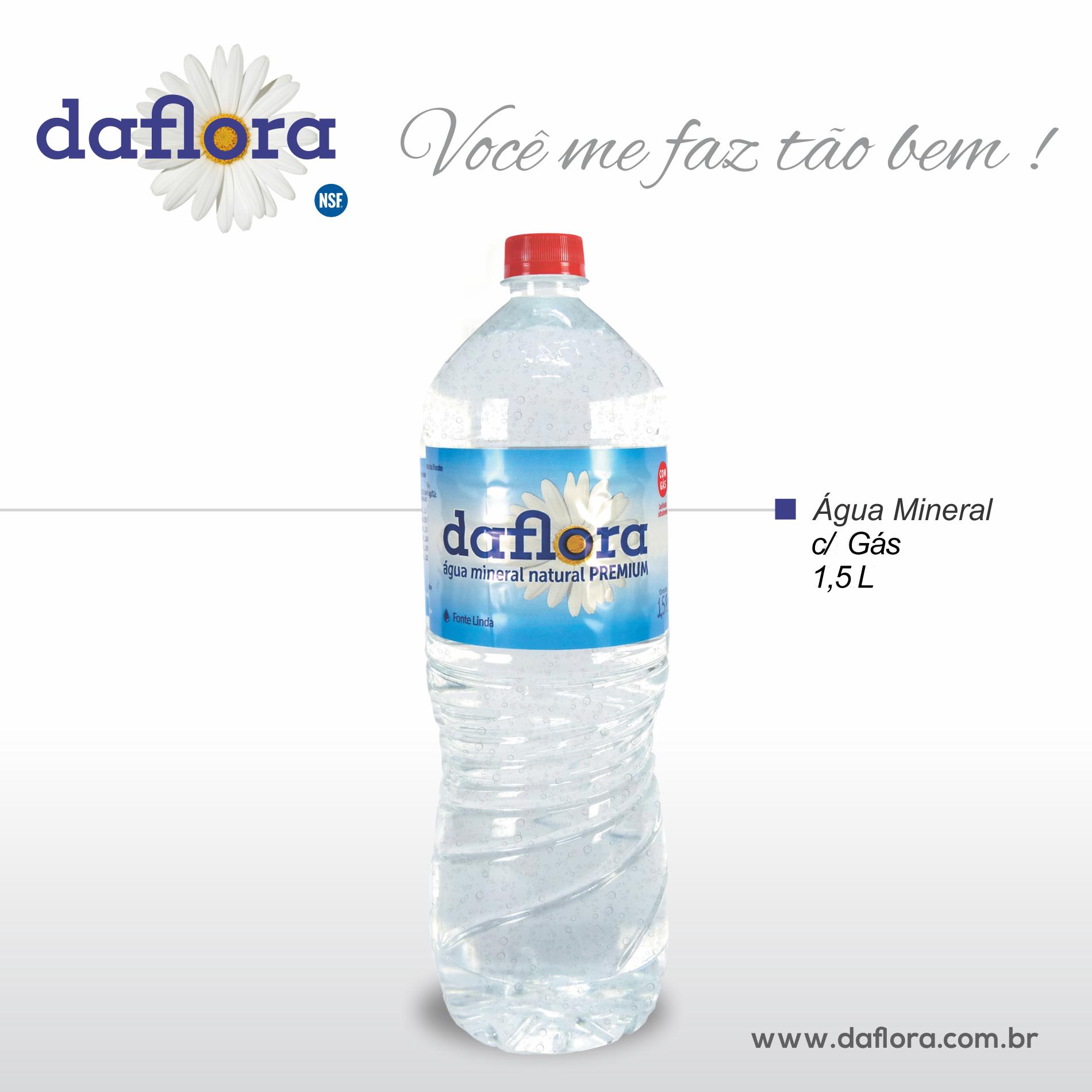 Garrafa PET Daflora 1,5 litros com gás