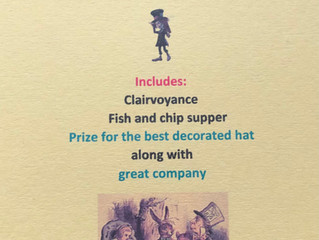 """""""Mad Hatters Tea Party"""" Saturday 31st July 2021 at 7.30pm"""
