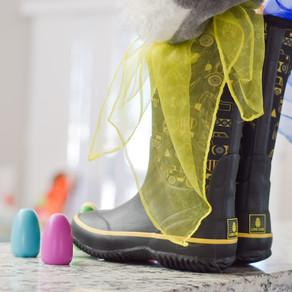 DIY Rain Boot Easter Baskets