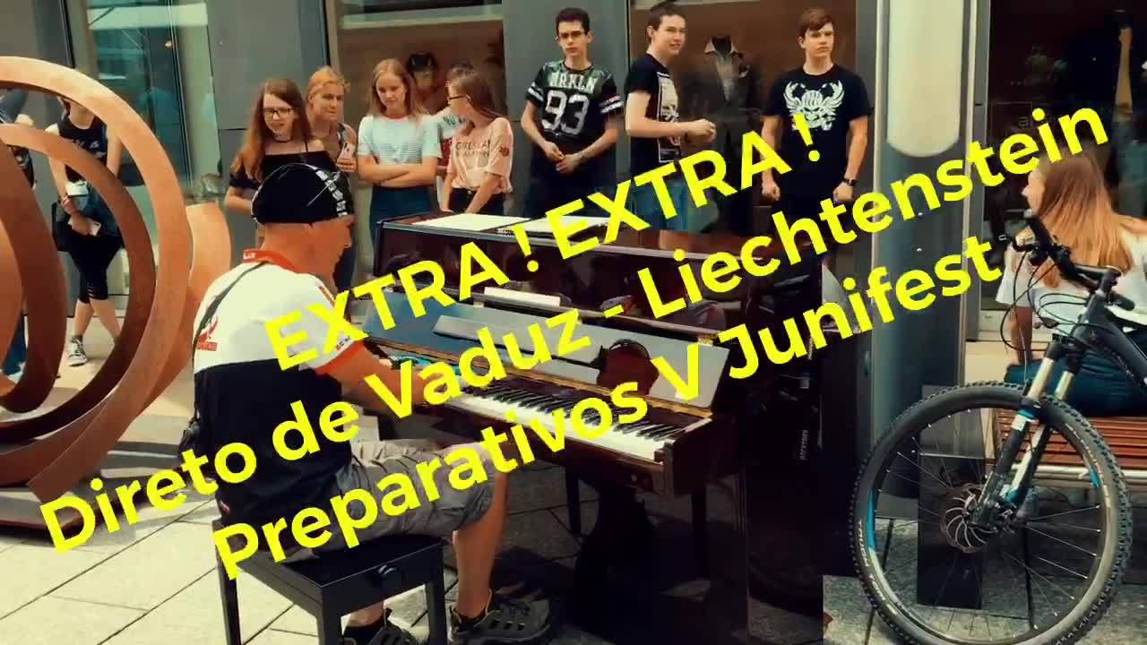 ⚠️Exclusivo diretamente da Sala Vaduz em Liechtenstein os preparativos para o V Junifest que será amanhã sábado dia 16 e domingo dia 17 de Junho. Organização : Denise Da Cruz & Casa Brasil Liechtenstein.