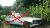 Une épave de voiture doit être enlever pour cession pour destruction et recyclage