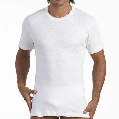 T-shirt Uomo Visconteo in Cotone Girocollo Bianca