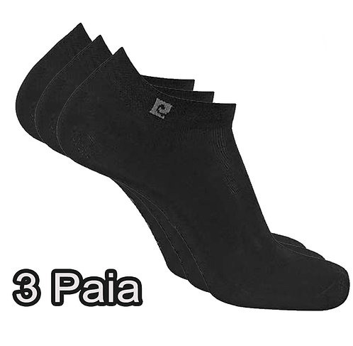 Calze Sneakers Pierre Cardin 3 Paia 40/46 PC300 Nere
