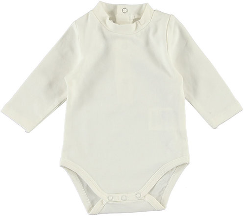 Body Baby in Cotone Manica Lunga Bianco