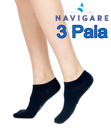 Calze Sneakers Navigare 3 Paia Blu Navy D392