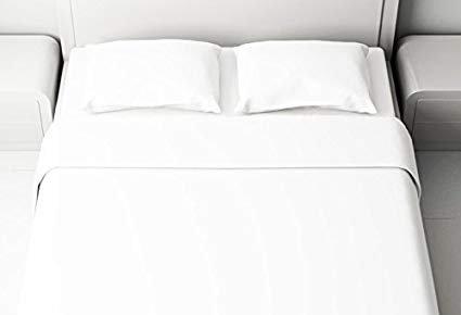 Completo lenzuola Hotel matrimoniale bianco