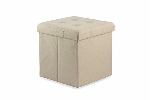 Pouf cubo in ecopelle, 38x38x38cm