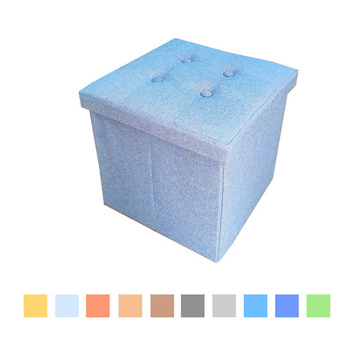 Pouf contenitore in Lino
