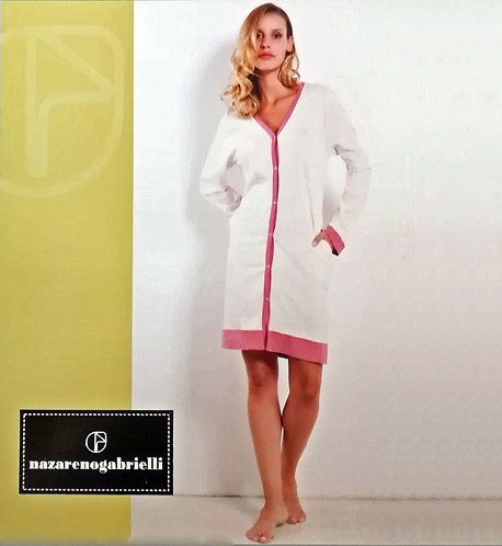 Camicia da notte Donna Nazareno Gabrielli Cotone Manica Lunga D645