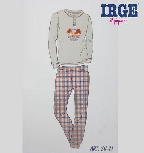 Pigiama Ragazzo IRGE Cotone Manica Lunga SU21